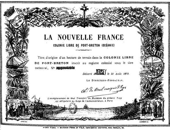 La Colonie Libre De Port Breton Miscellanee Du Jour
